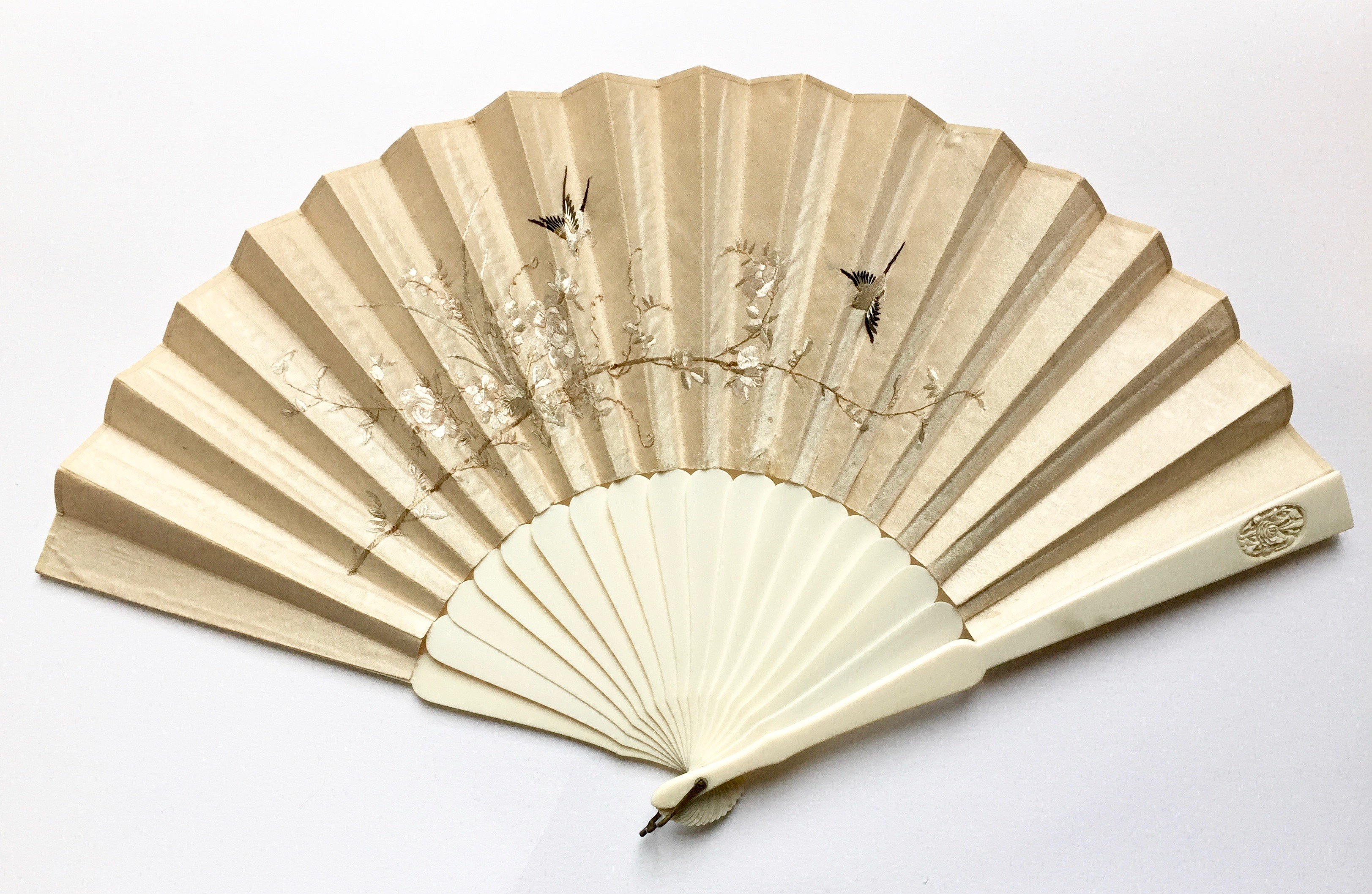 ivory sticks Handfan after conservation