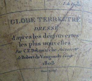 cartel de globe terrestre