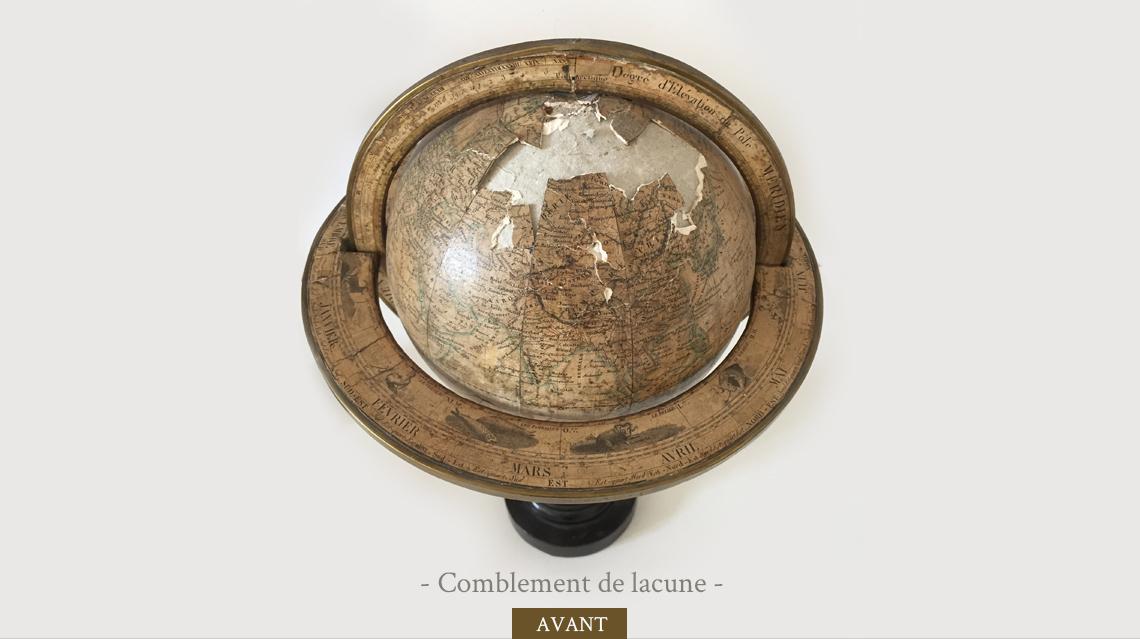 Restauration de globe avant-1
